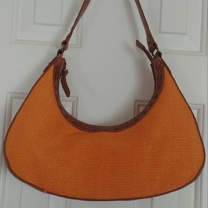 Relic Orange Basketweave Bag